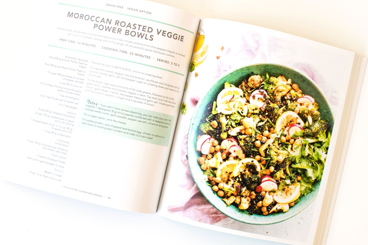 Moroccan Roasted Veggie Power Bowls Recipe - a sample from Nourishing Superfood Bowls by Lindsay Cotter (gluten-free, plant-based)