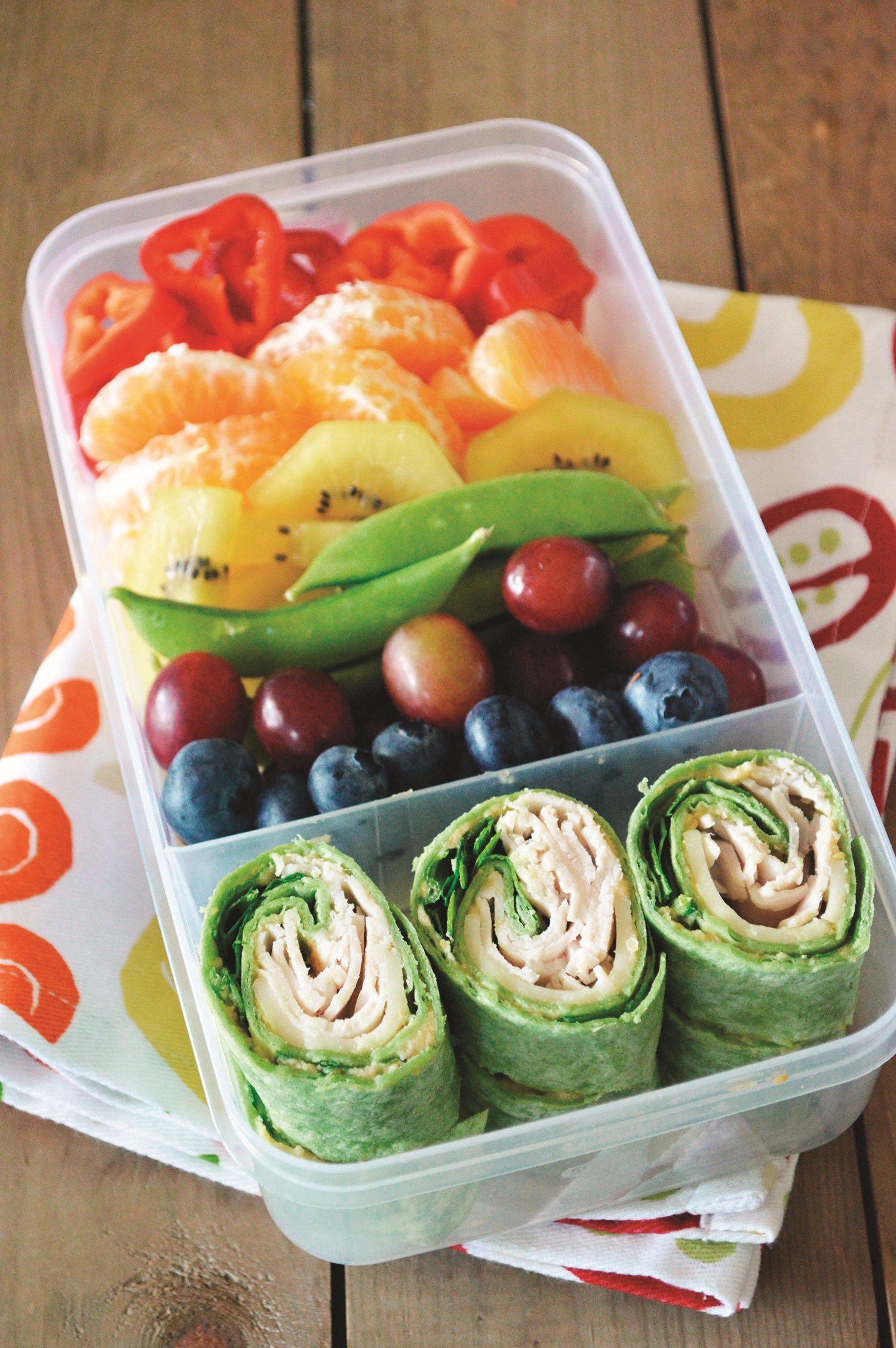 Rainbow Bento Box with Deli Spirals Recipe (kid-friendly, dairy-free and school-safe! With gluten-free and vegan options)
