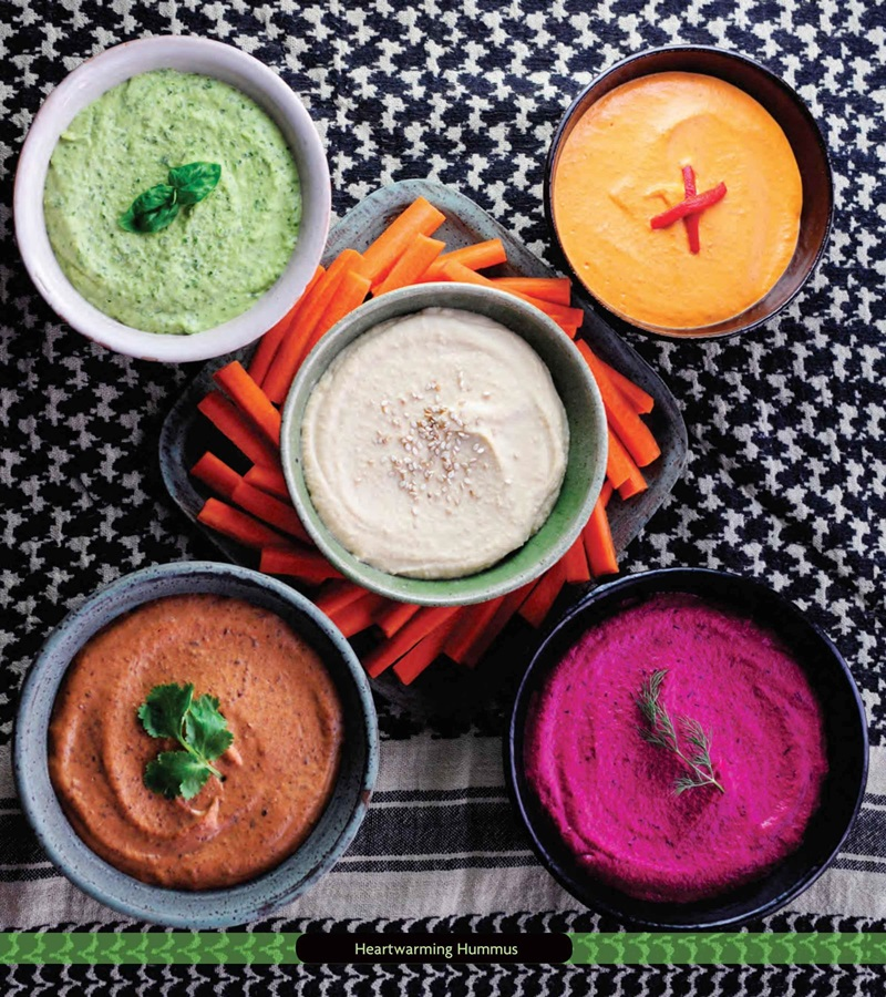 Heartwarming Healthy Hummus Recipe with FIVE Flavor Variations (all plant-based) - Green Goddess, Cheesy White Bean, Blushing Beet, Black Bean, and Lime