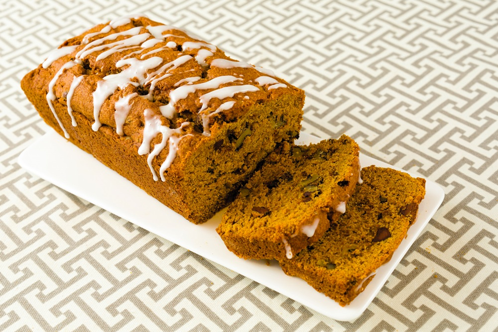 Dairy-Free Gluten-Free Chocolate Chip Pumpkin Bread Recipe made with Oat Flour