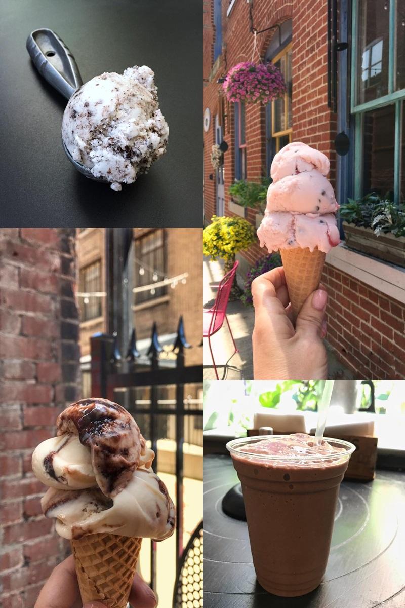 Bank Street Creamery in Easton, Pennsylvania slow churns dozens of vegan gelato flavors!
