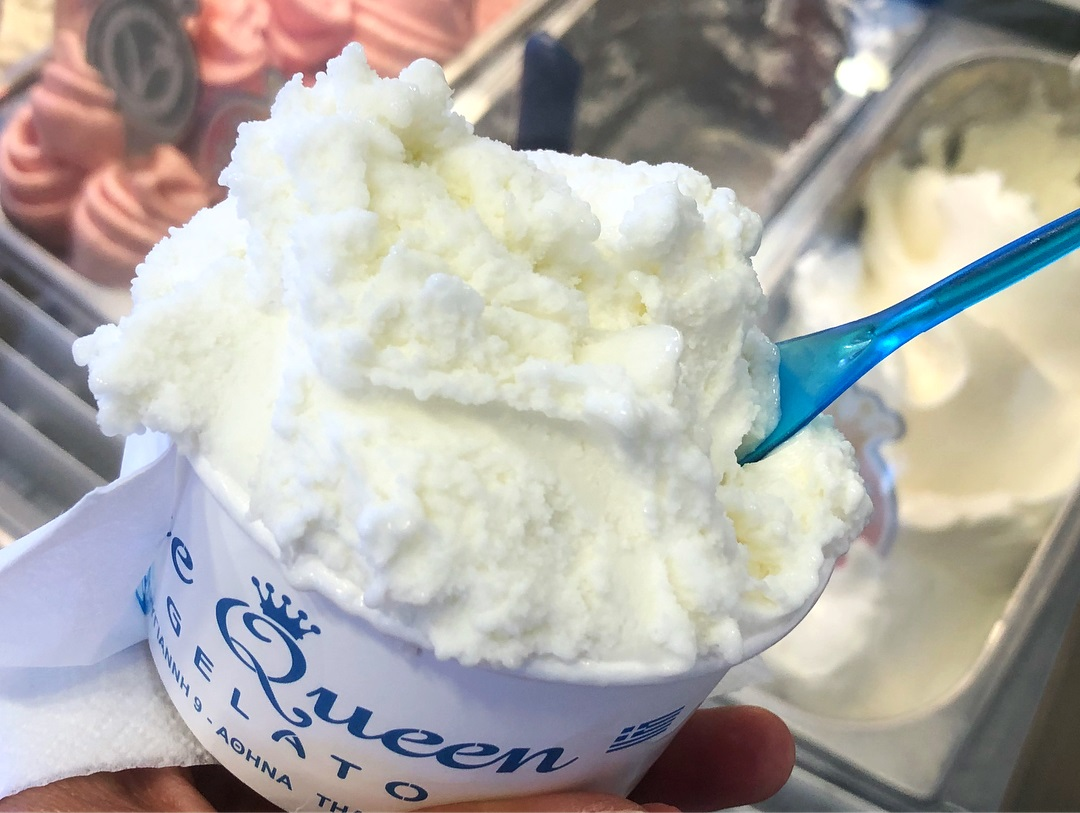 Ice Queen Gelato in Athens, Greece is well-known for tons of vegan treats