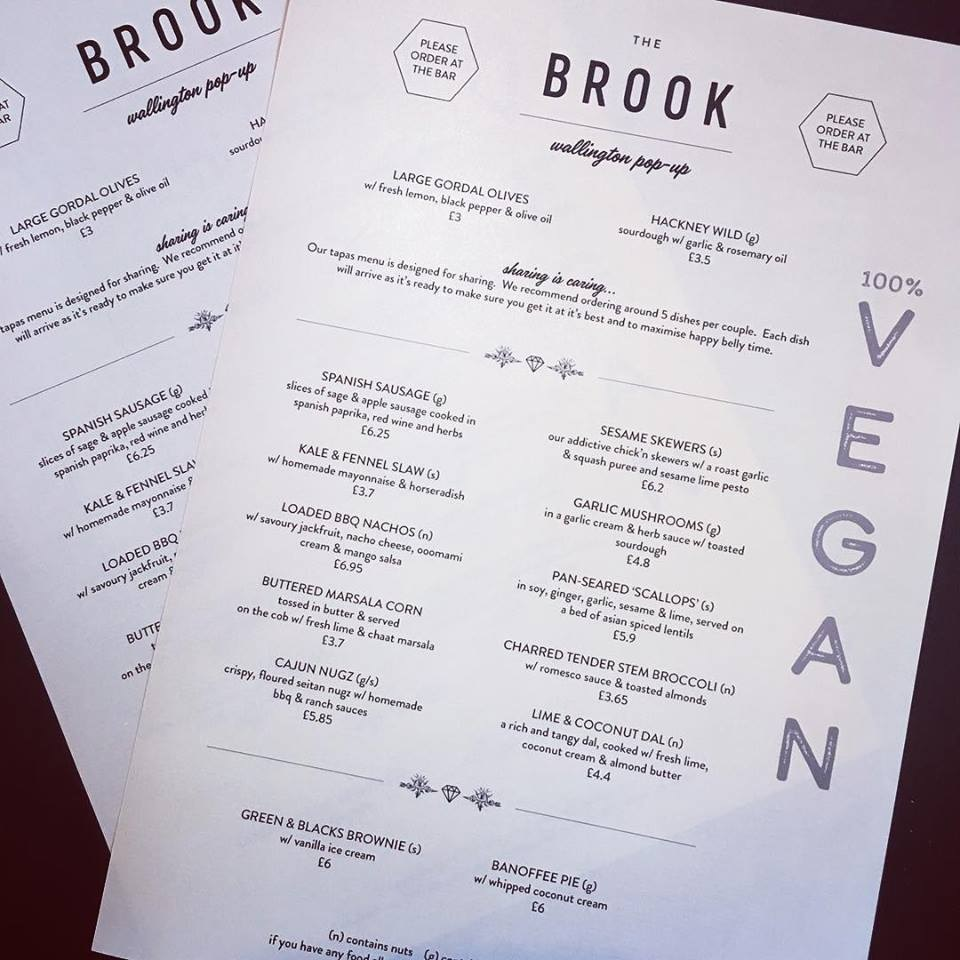 The Brook in London is an all vegan tapas and cocktail bar