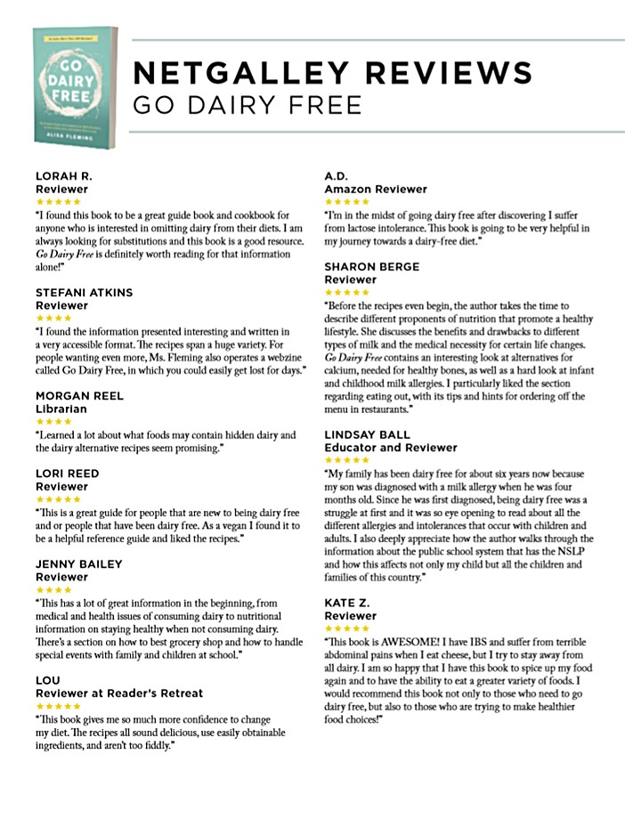 Go Dairy Free Reviews - A collection from Net Galley