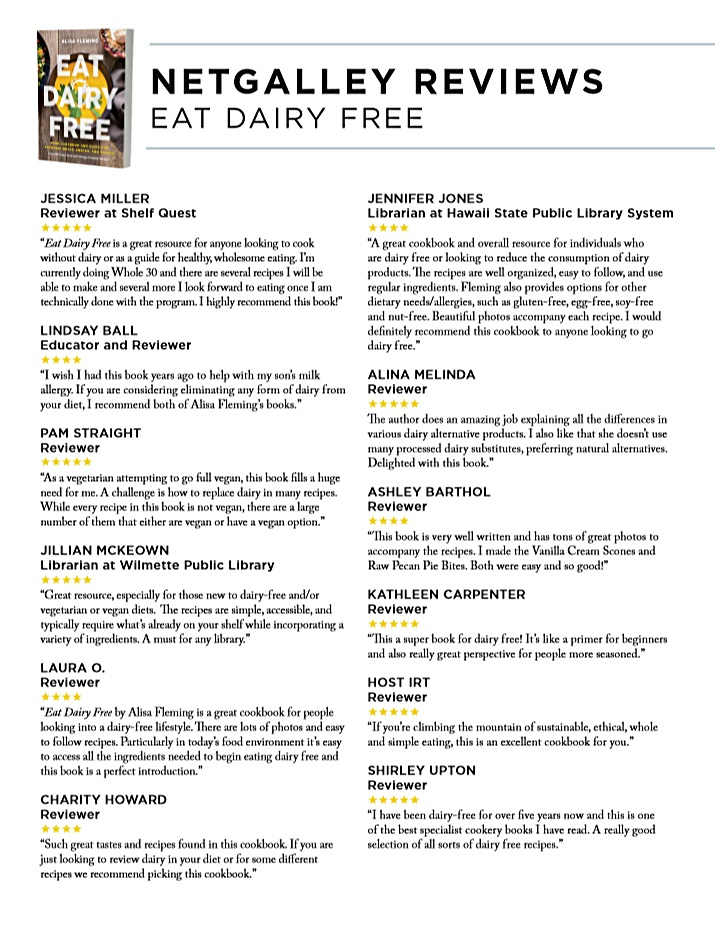 Eat Dairy Free Reviews - unbiased opinions on this new Everyday Cookbook