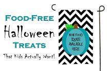 15 Food-Free Halloween Treats That Kids Actually Want! Picked by kids - great for Trick or Treating, School Parties and Teal Pumpkin Project #halloween #tealpumpkin #trickortreat
