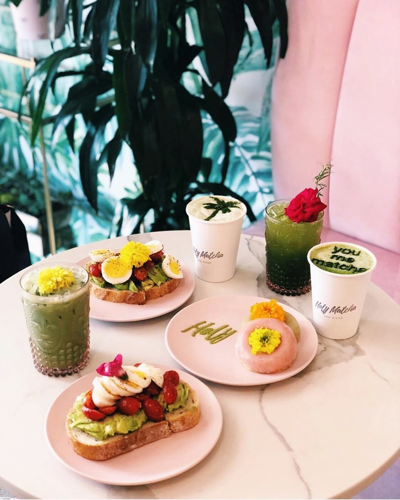 Holy Matcha in San Diego Serves Picture-Perfect Vegan and Gluten-Free Fare #dairyfree #glutenfree #softserve #donutshop #matchalatte
