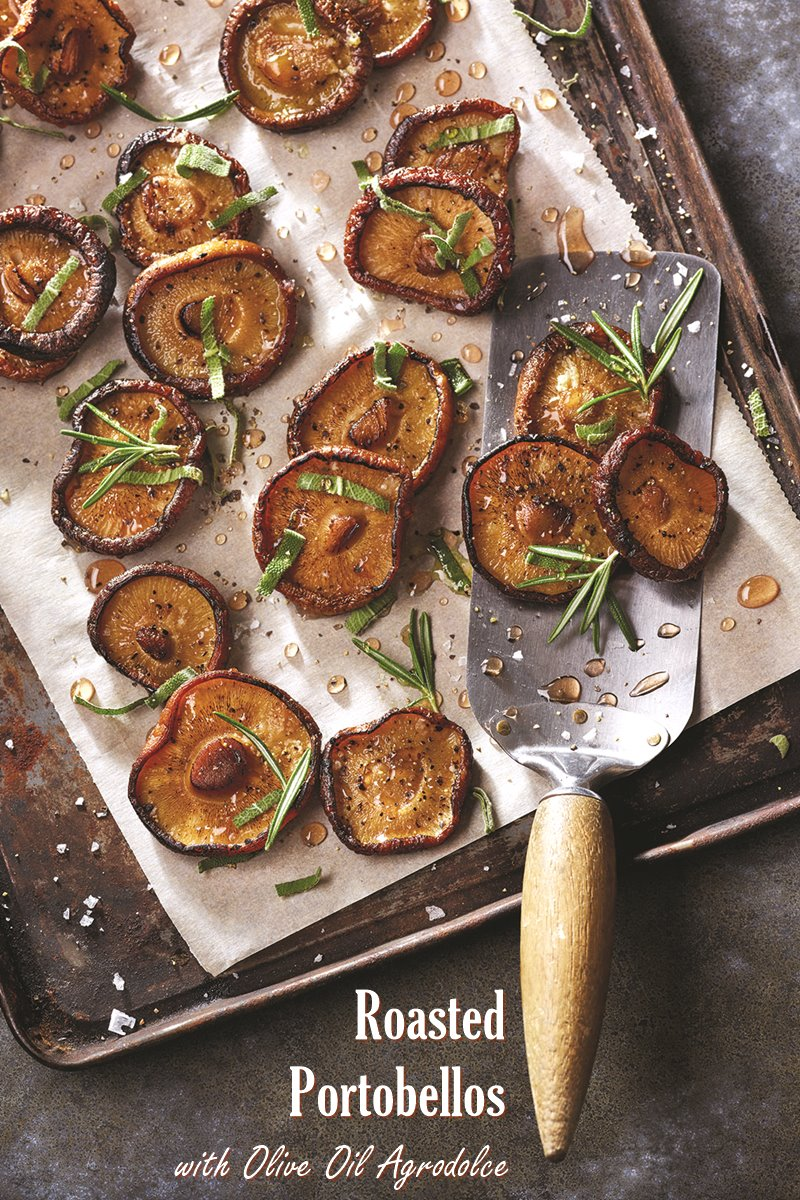 Roasted Portobello Mushrooms Recipe With Olive Oil Agrodolce