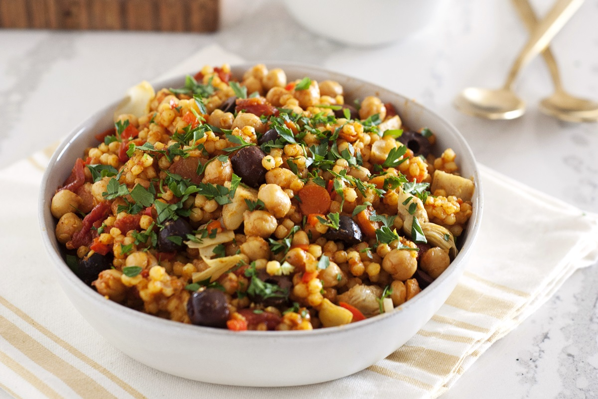 One-Pot Sicilian Couscous Recipe - A Plant-Based Dinner Recipe from One-Dish Vegan