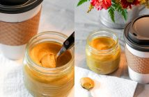 Dairy-free Pumpkin Spice Sauce Recipe (Starbucks Copycat!) for making Pumpkin Spice Lattes - or you can use it as a dessert topping! Also vegan, gluten-free and allergy-friendly