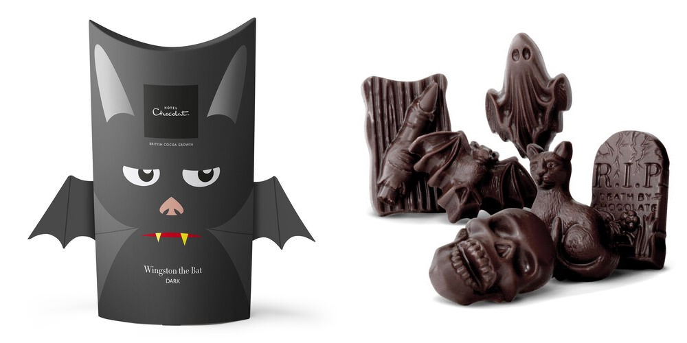 The Cutest + Tastiest Dairy-Free and Vegan Halloween Treats (Pictured - hotel chocolat)