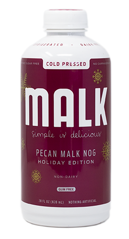 Dairy-Free Holiday Beverages: A Big Round-Up of Vegan Nog, Pumpkin, and Chocolate Mint Drinks (Pecan Malk Nog pictured)