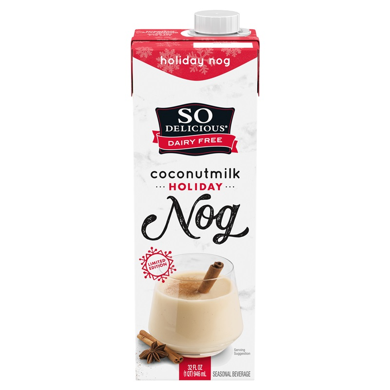 Dairy-Free Holiday Beverages - So Delicious Nog (Coconut Milk Based)