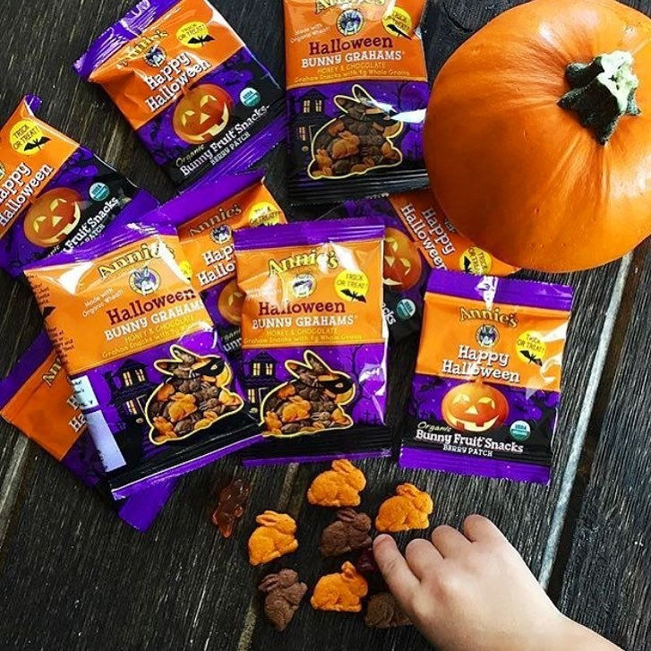 The Cutest + Tastiest Vegan and Dairy-Free Halloween Treats (Pictured - Annie's Bunnies and Bats Fruit Snacks