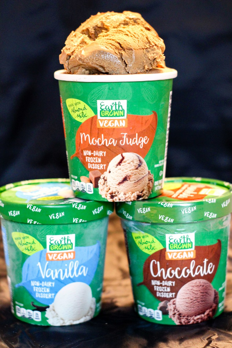 5 Store Brands of Dairy-Free Ice Cream You Didn't Know Existed (pictured: Aldi Earth Grown Vegan Ice Cream)