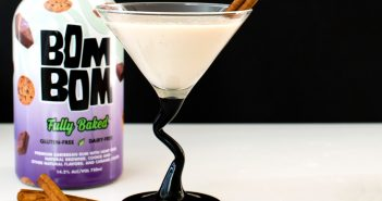 "Vegan Apple Pie Martini - a creamy ""a la mode"" beverage. Dairy-free, gluten-free, and nut-free"