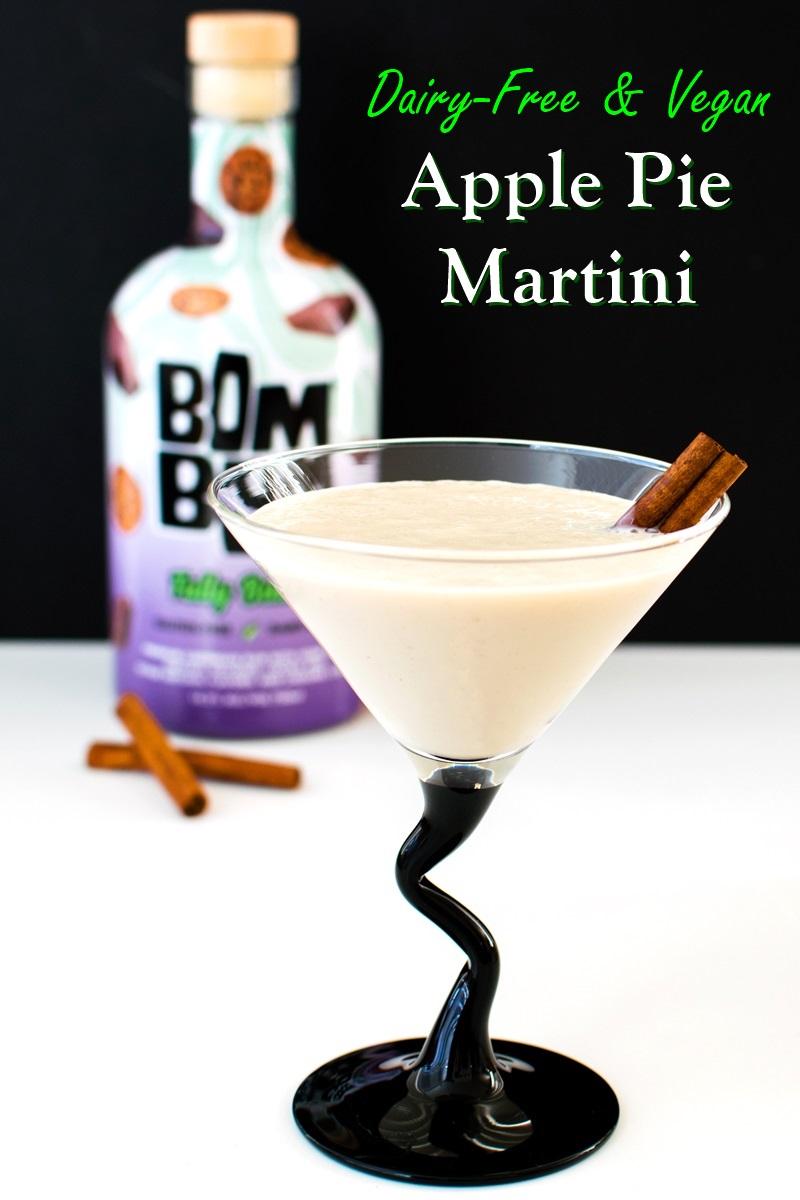 "Vegan Apple Pie Martini - a creamy ""a la mode"" beverage. Dairy-free, gluten-free, and nut-free"