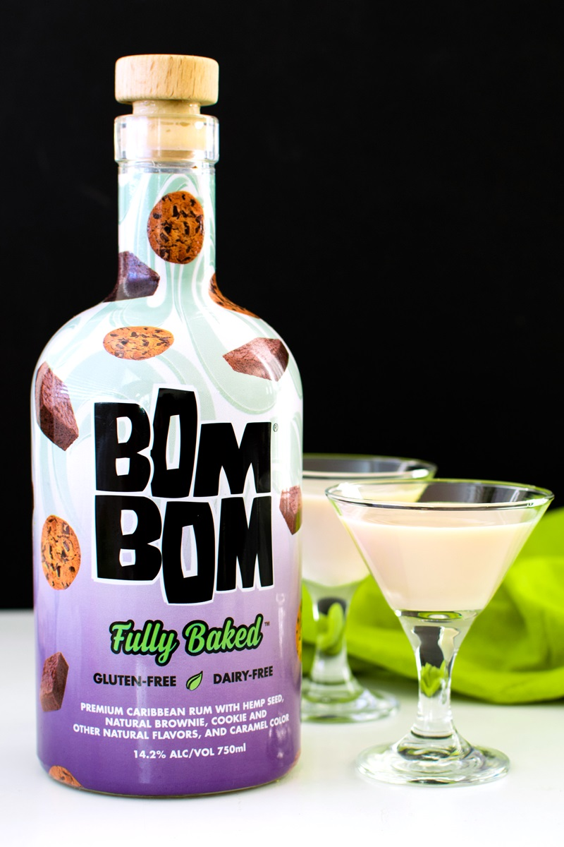BOM BOM Dairy-Free Liqueur - Creamy Almond Milk Nilli Vanilli and Hemp Milk Fully Baked varieties - both dairy-free and gluten-free