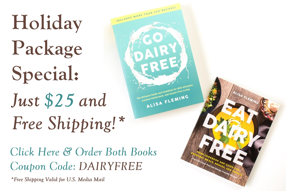 Get Go Dairy Free and Eat Dairy Free (a two-book bundle) for $25 plus Free Shipping