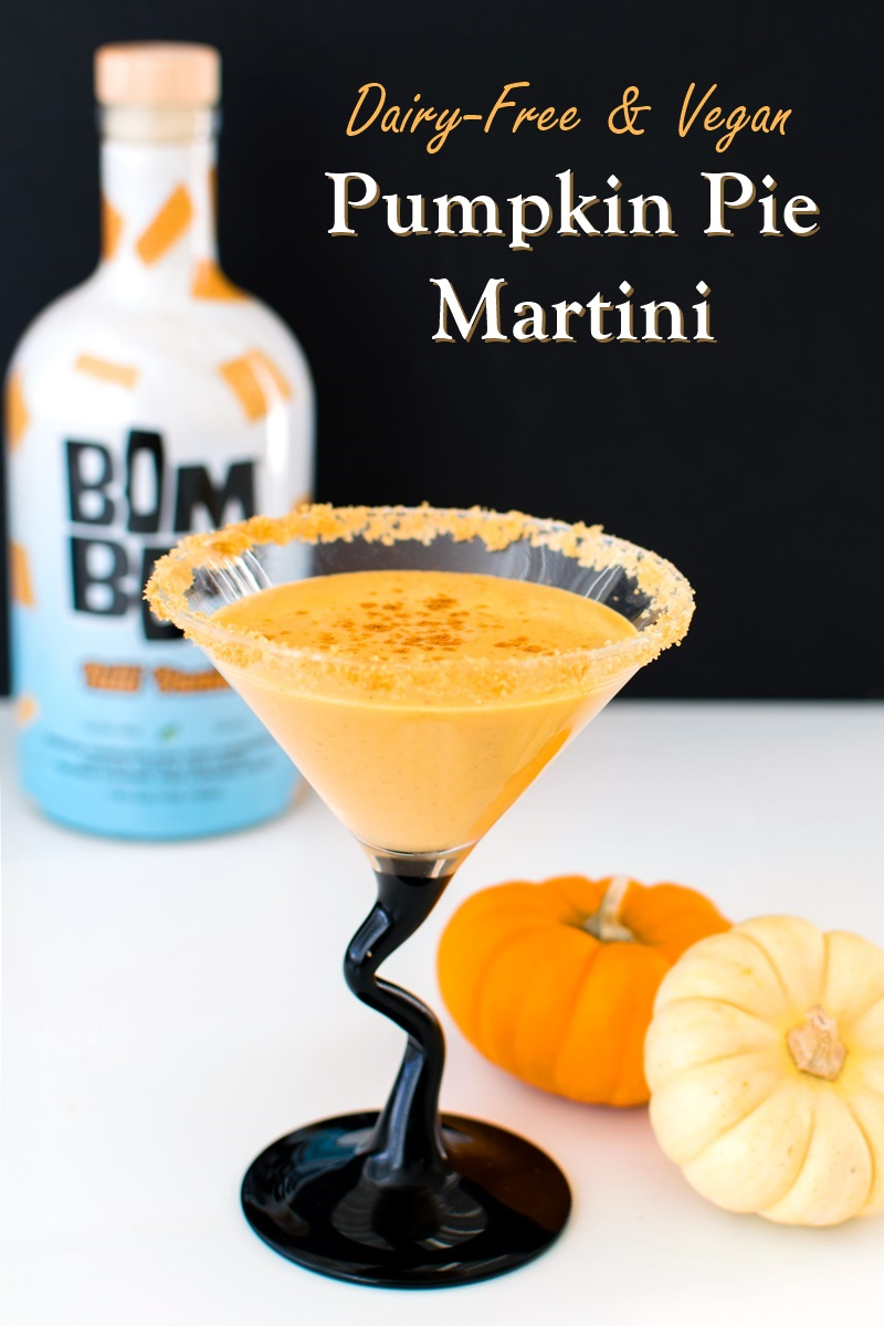 Vegan Pumpkin Pie Martini with Creamy Cocktail Option - delicious!