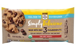 Nestle Tollhouse Simply Delicious Allergy-Friendly Chocolate Chips - Dairy-Free, Soy-Free, Semi-Sweet, Dark, and White Chocolate Chips