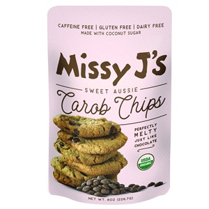Missy J's Dairy-Free Carob Chips - Vegan, Paleo, and Coconut Sugar Sweetened