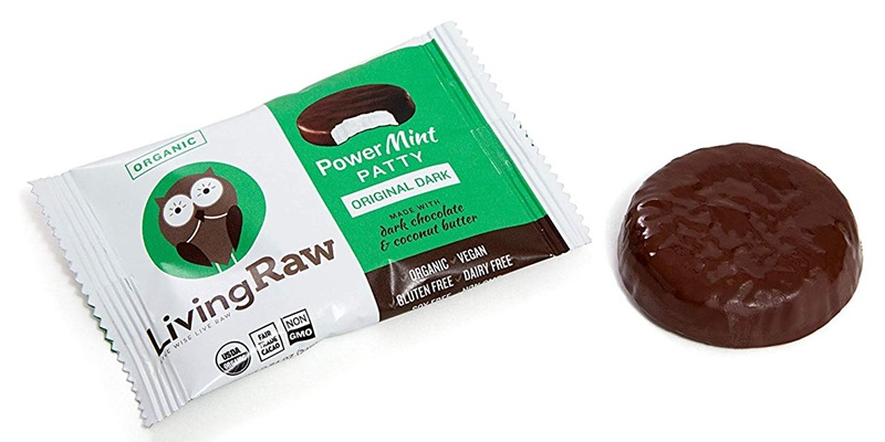 The Best Dairy-Free Chocolate Peppermint Treats (all vegan too!) - from chocolate bark to cookies, coffee to creamers, and even fondant! Pictured: Living Raw Power Patties