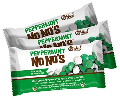 The Best Dairy-Free Chocolate Peppermint Treats (all vegan too!) - from chocolate bark to cookies, coffee to creamers, and even fondant! Pictured: No Whey No No's