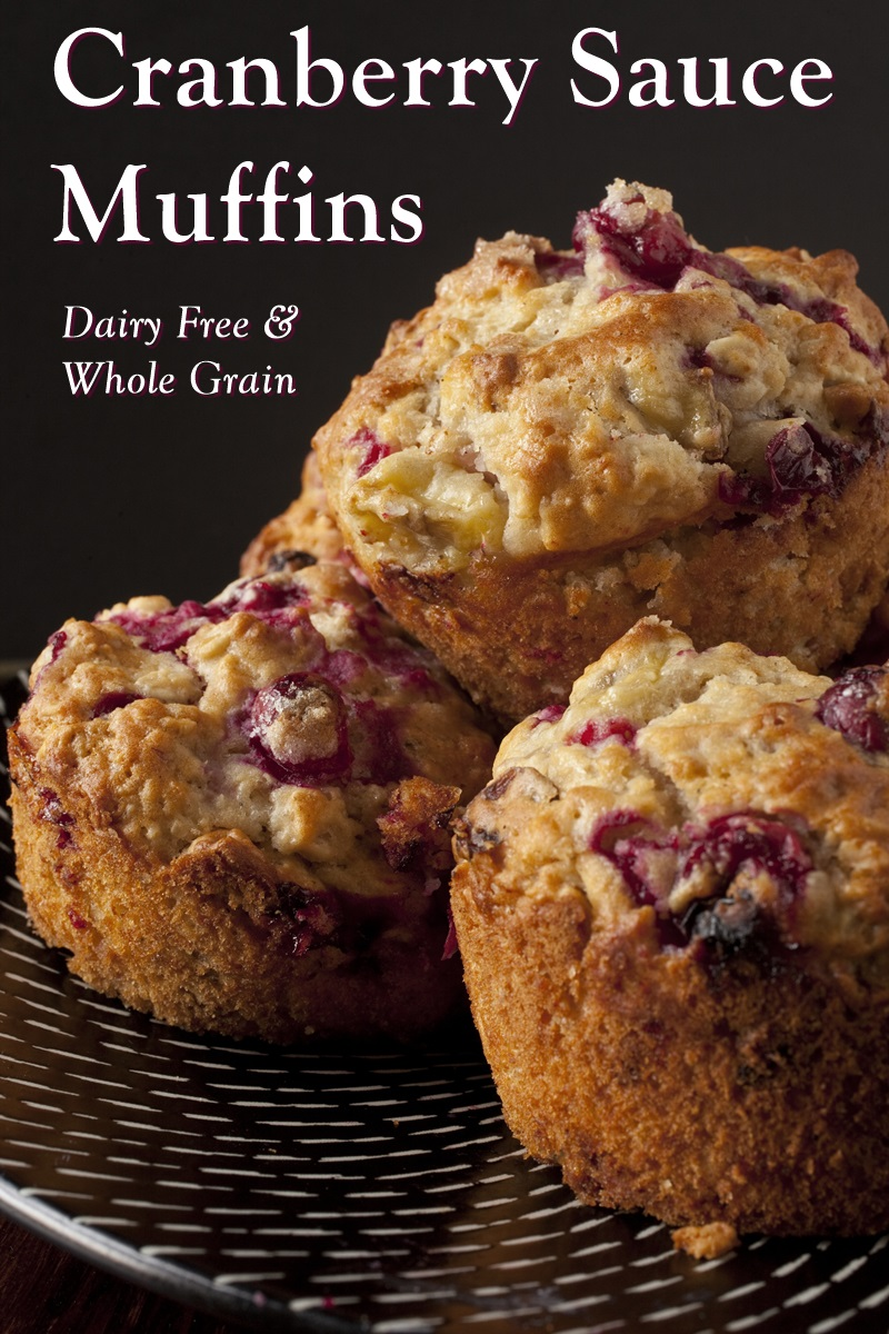 Cranberry Sauce Muffins Recipe for the Morning After (Dairy-free and Whole Grain)