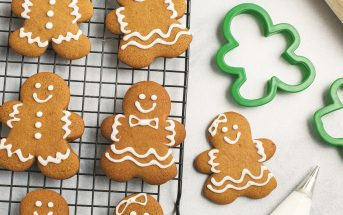 Dairy-Free Gingerbread Men Cookies Recipe with Royal Icing - a classic popular recipe that can also be made vegan!
