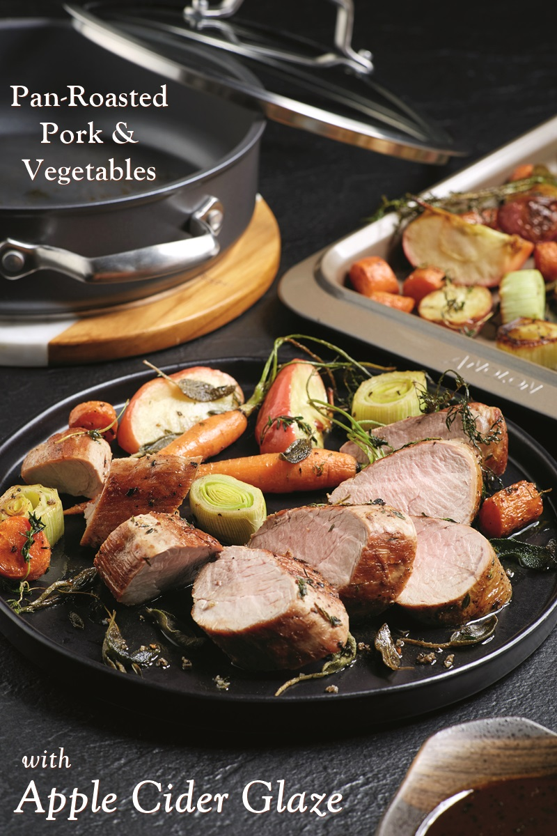 Pan Roasted Pork Tenderloin Vegetables With Apple Cider Glaze Recipe