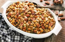 Dairy-Free Stuffing Recipe with Pecans, Apples, and Sausage (also Egg-Free!)