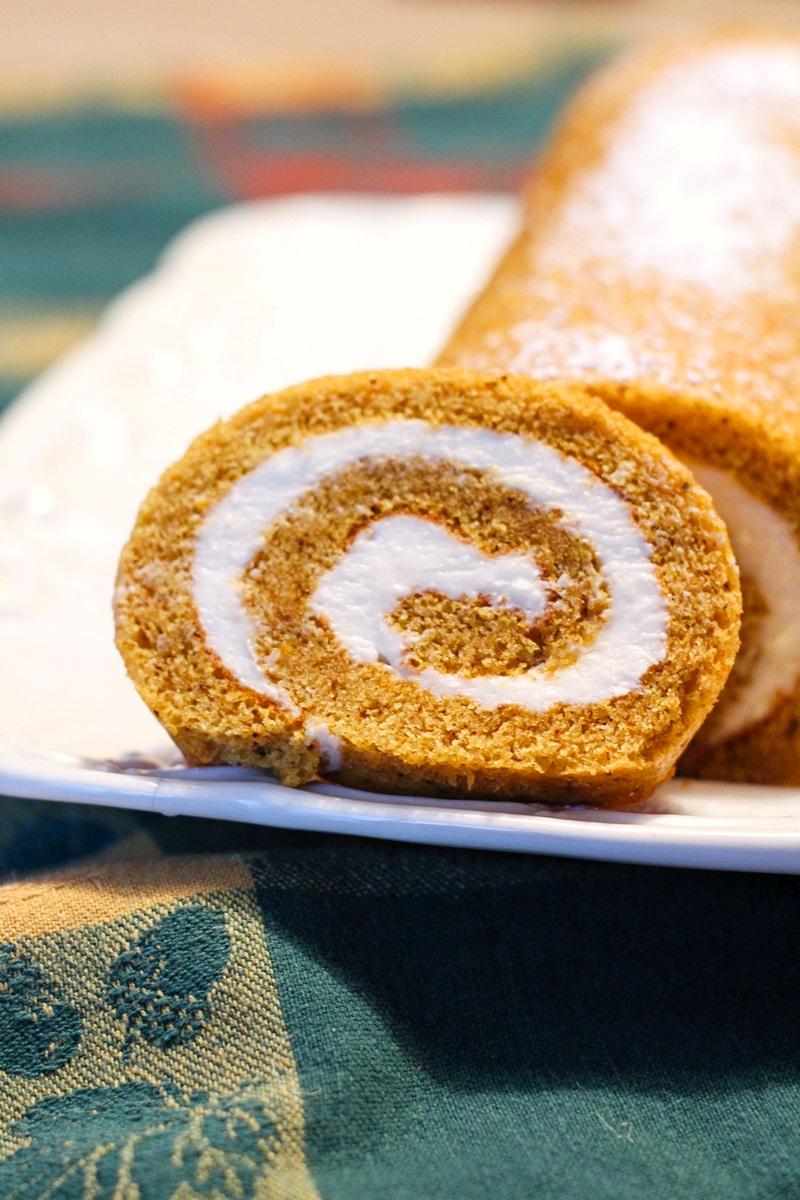 Dairy-Free Pumpkin Roll Recipe - A twist on Libby's Classic Recipe