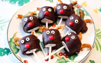 Dairy-Free Reindeer Pops Recipe - Fun to Make & Allergy-Friendly for All - includes vegan, gluten-free, and top food allergy-friendly options. Kid-friendly holiday treat that kids can make!