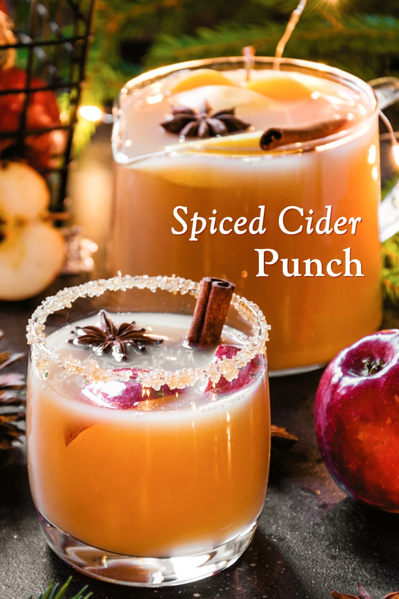Spiced Cider Punch Recipe with Ginger Beer (alcoholic and non-alcoholic options)
