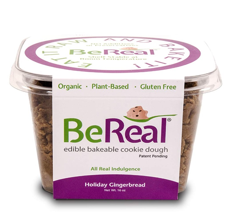 BeReal Doughs Edible and Bakeable Cookie Dough | Organic Gluten-Free and Plant-Based, Ready to Eat and Bakeable Vegan Chocolate Chip Cookie Dough | Allergen Friendly | Holiday Gingerbread