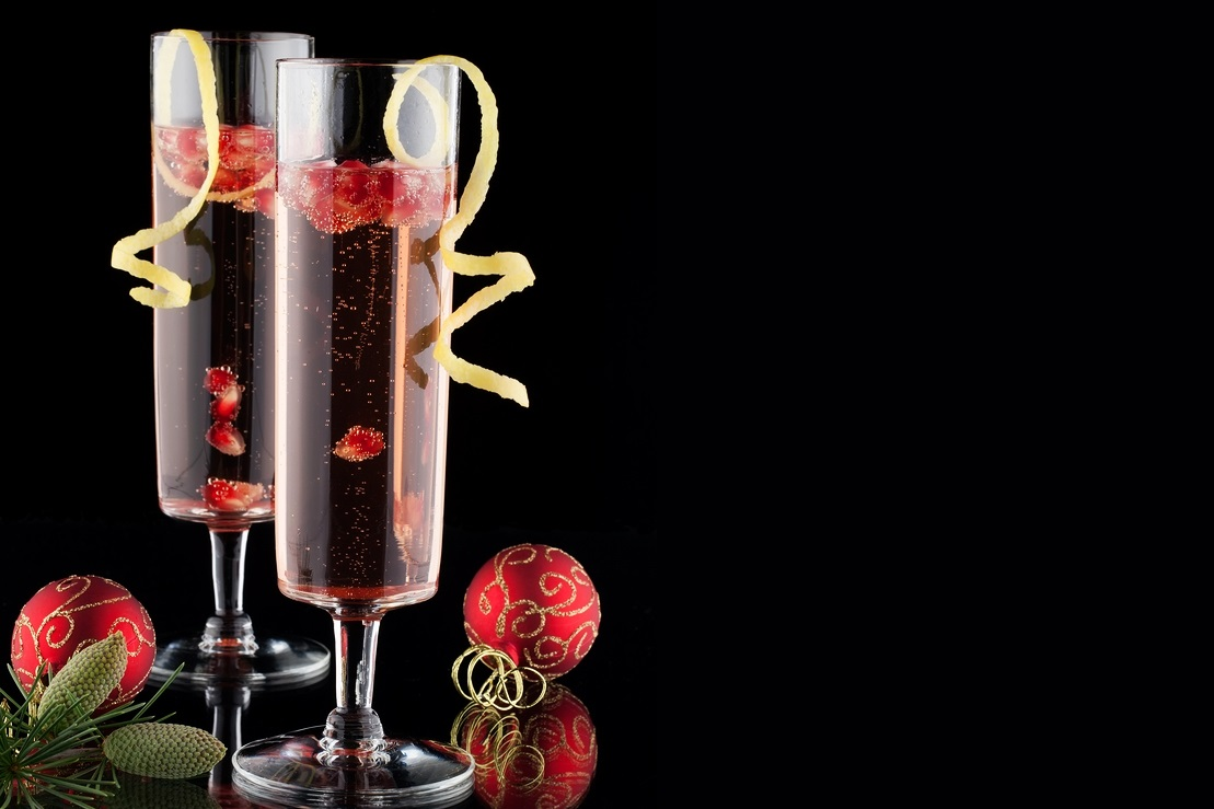 Pomegranate Cranberry Champagne Cocktail Recipe