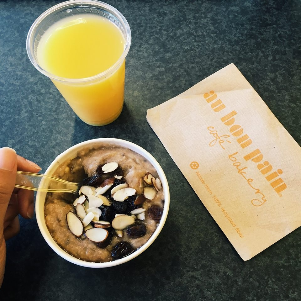 How To Order Dairy-Free at Au Bon Pain - includes vegan options - sandwiches, salads, breads, soups, baked goods, coffee drinks, and more