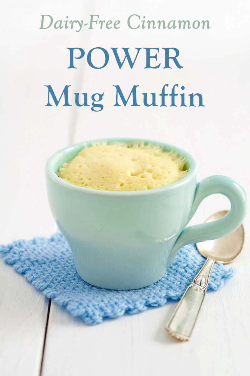 Cinnamon Power Mug Muffin Recipe - Gluten-Free, Grain-Free, Sugar-Free and Dairy-Free. A great healthy dessert or sweet snack with a cinnamon-buttery drizzle (not pictured)