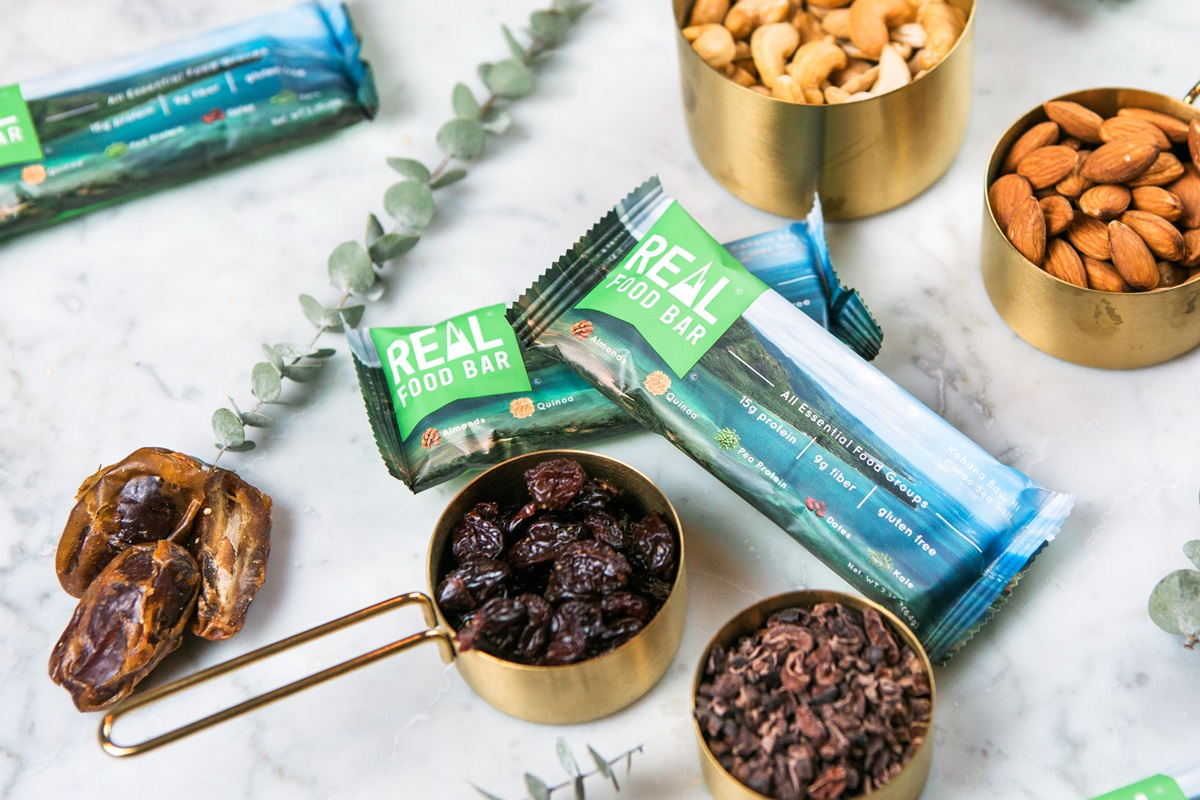 Real Food Bars are the Complete Package for Active Lifestyles - dairy-free, gluten-free, soy-free, plant-based - get the ingredients, tasting notes, bar benefits and more ....