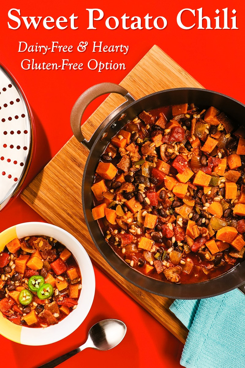 Sweet Potato and Black Bean Chili Recipe - Naturally Dairy-free and Hearty with Gluten-Free Option