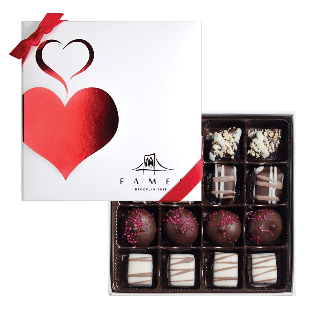 Guide to the Best Dairy-Free Valentine Chocolate: Over 20 Chocolatiers with Vegan, Gluten-Free, Food Allergy-Friendly, Organic, Fair Trade and more! Pictured: Fames Chocolate