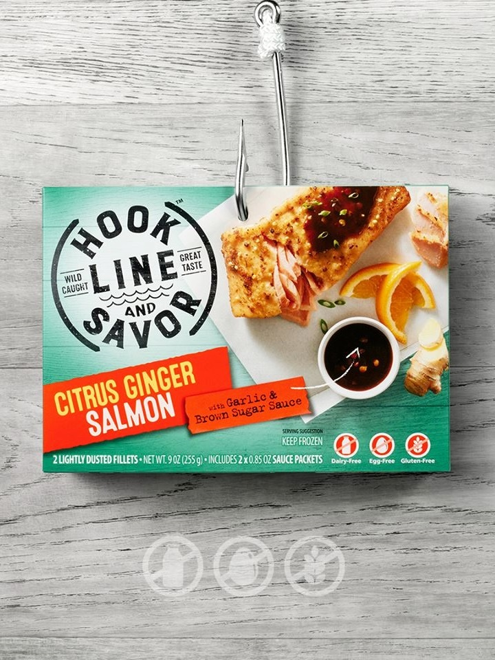 Hook Line and Savor is High-Quality, Allergy-Friendly, Ocean-to-Table Seafood (dairy-free, egg-free, gluten-free, nut-free, soy-free). See the ingredients, tasting notes, quality, and sustainable practices ....