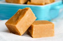 Dairy-Free Peanut Butter Fudge Recipe - Easy, foolproof, microwave version adapted from a beloved Alton Brown recipe. Also vegan, gluten-free, and optionally soy-free.