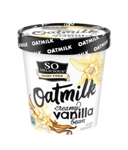 So Delicious Oatmilk Frozen Dessert - Dairy-Free Ice Cream in New Cool, Creamy Flavors (vegan, gluten-free, nut-free, soy-free) - includes ingredients, allergen details, more product info and user reviews! Pictured: Creamy Vanilla Bean