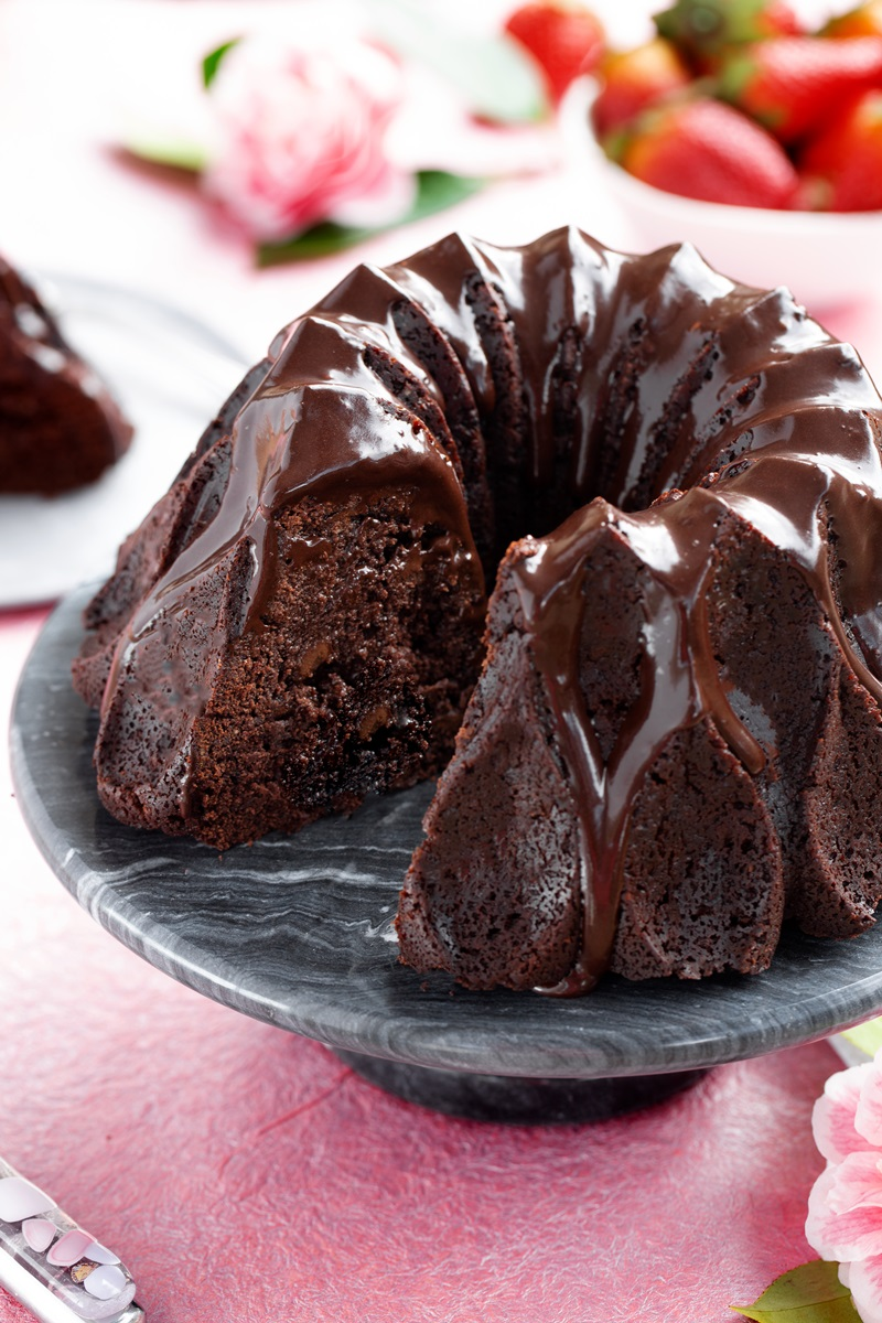 Tunnel of Fudge Cake Recipe - vegan and allergy-friendly with gluten-free option