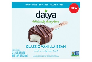 Daiya Frozen Dessert Bars Review - ratings, ingredients and more info on these dairy-free, nut-free, soy-free, vegan ice cream bars dipped in chocolate