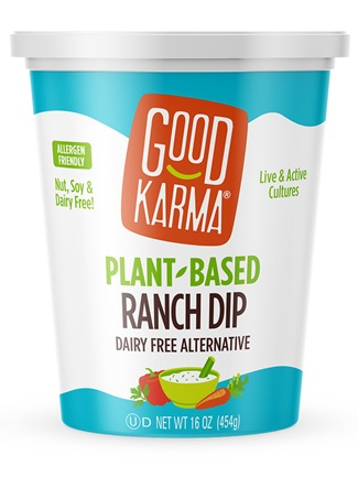 Good Karma Plant-Based Dips to Savor in Two Creamy Dairy-Free Flavors - Ranch and French Onion - dairy-free, nut-free, gluten-free and soy-free