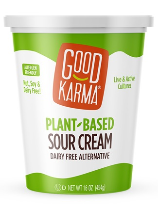 Good Karma Plant-Based Sour Cream is a Cultured Dairy Alternative - we have the ingredients, product info, ratings, and review. Dairy-free, soy-free, nut-free, vegan, and probiotic.
