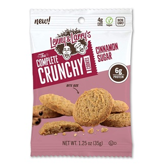 Lenny & Larry's The Complete Crunchy Cookies Pack a Bite-Sized Vegan Protein Punch - full review with ingredients, allergen info, ratings, and more. Vegan and soy-free.